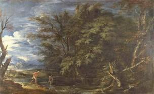 Rosa 1649 apres Mercure et le bucheron malhonnete National Gallery
