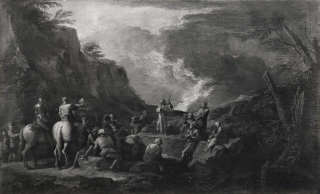 Rosa 1650-55 A1 Sant'Antonio Abate predica nel deserto coll priv