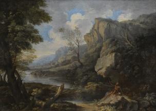 Rosa 1650-55 Paysage avec Saint Jerome coll priv