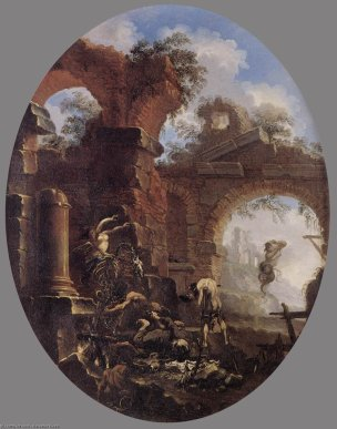 Rosa 1660-65 Freres tentes par des demons palazzo Corsini Roma