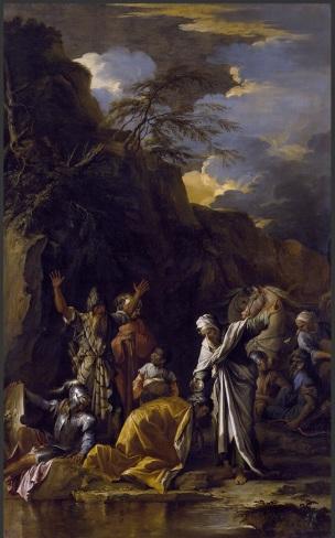 Rosa 1660 ca Saint Philippe baptisant l'eunuque Chrysler Museum, Norfolk