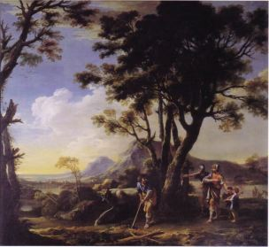 Rosa 1661-64 Cincinnatus a sa charrue Althorp House