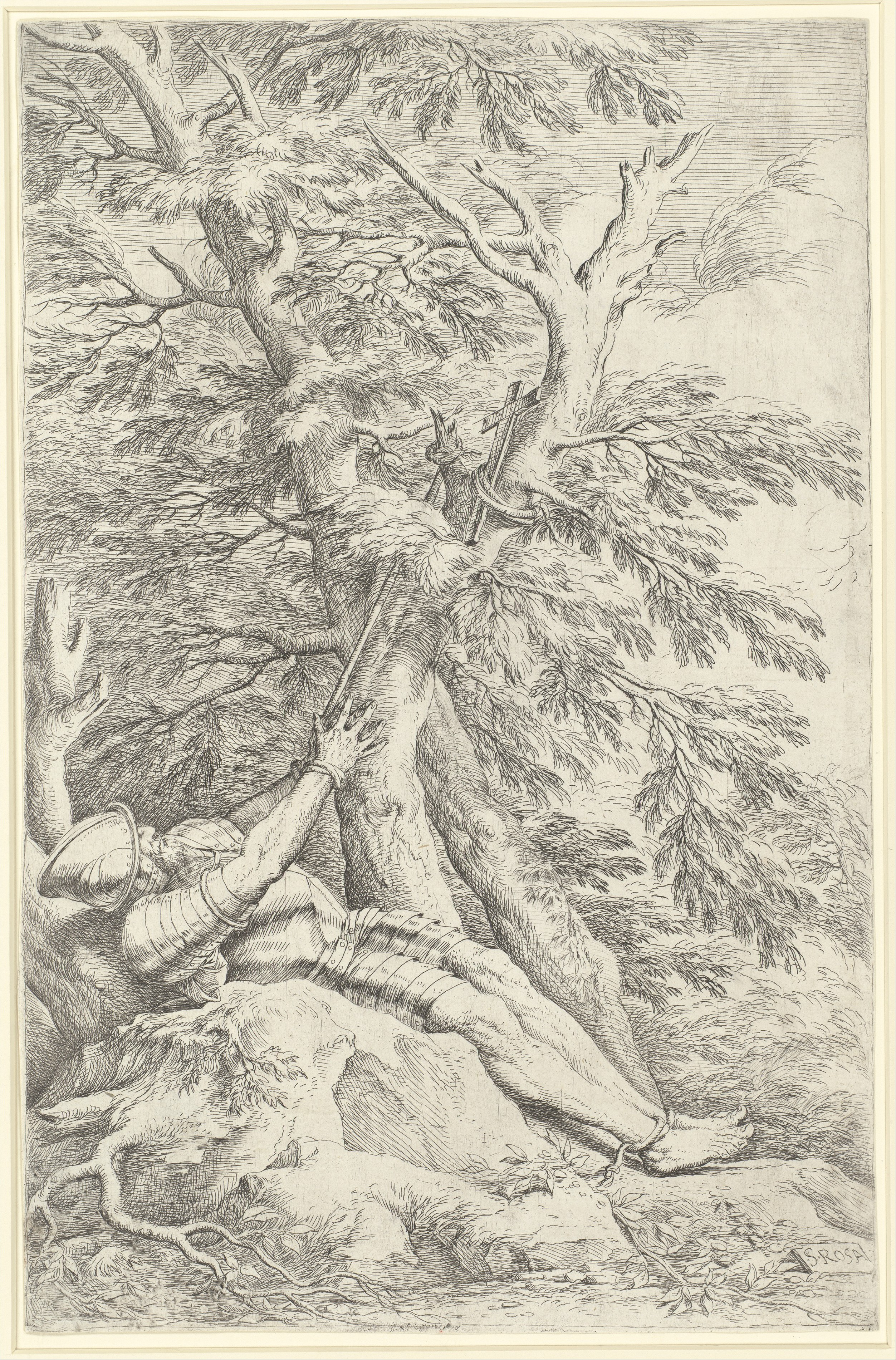 Rosa 1661 Saint Guillaume de Maleval gravure MET
