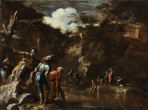 Rosa 1663-65 Thales_causing_the_river_to_flow_on_both_sides_of_the_Lydian_army Adelaide Art Gallery