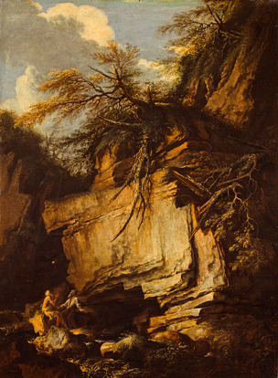 Rosa-1665-ca-Landscape-with-Saint-Anthony-Abbot-and-Saint-Paul-the-Hermit-National-Gallery-Scotland-Edimbourg