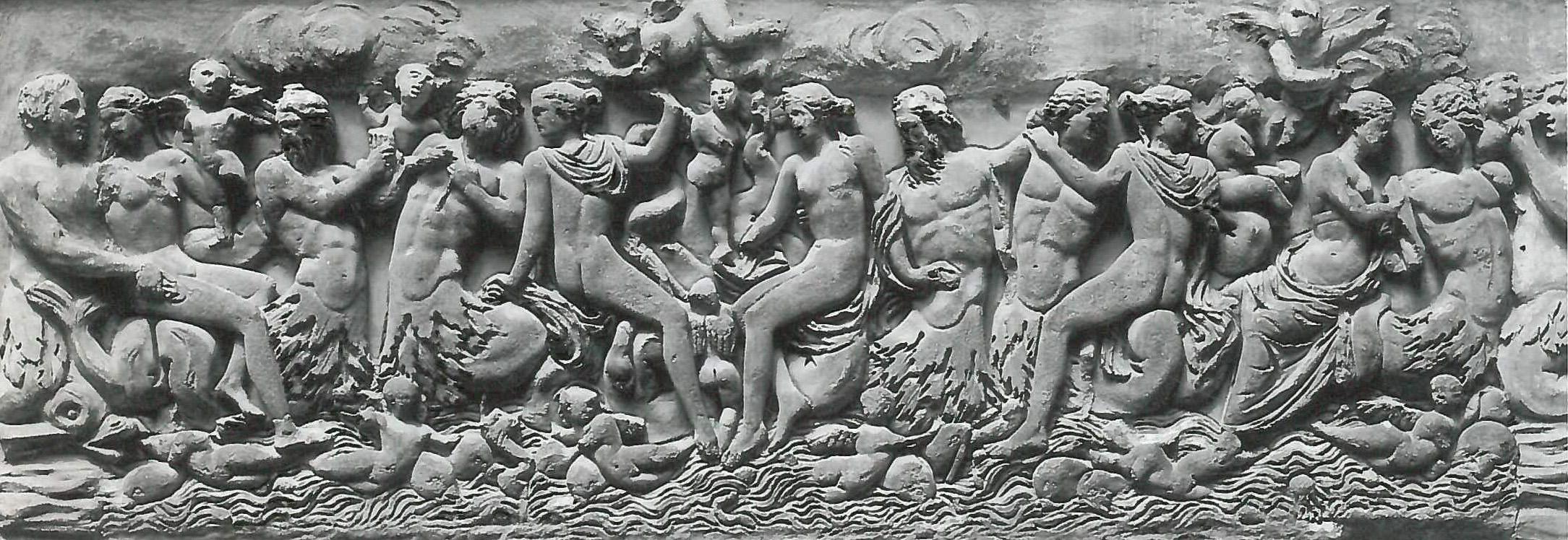 Tritons et nereides Sea-racophagus Musee des Thermes Rome