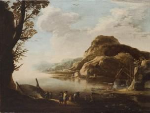 rosa 1638-39 A2 Paysage marin avec pecheurs accademia san Luca