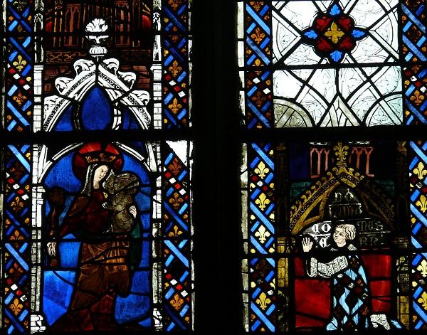 014 1319 avant Louis de France Comte d'Evreux Chapelle Saint Joseph Baie 26 Cathedrale Evreux