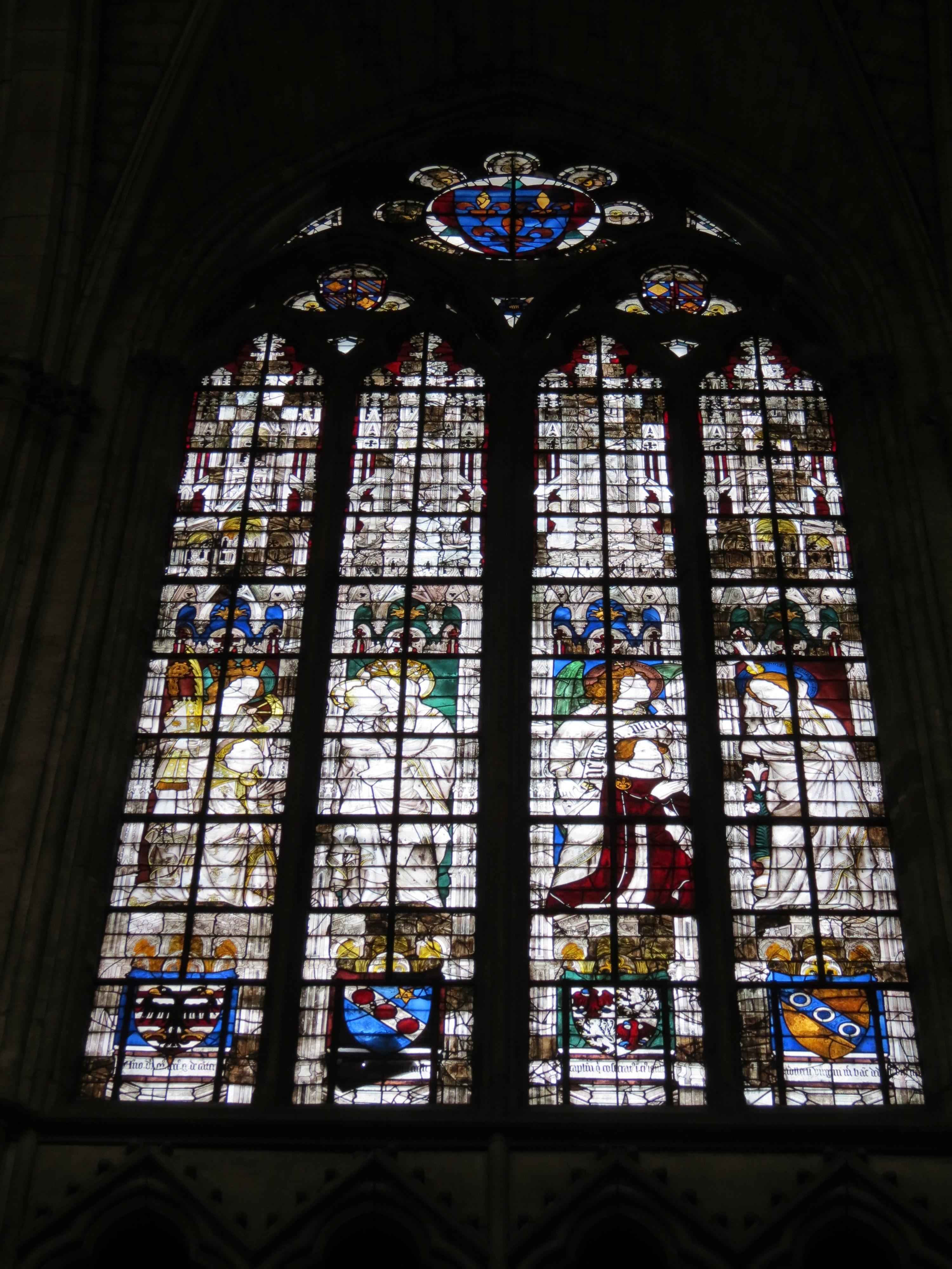129 1413 apres Guillaume de Cantiers et sainte Catherine Jean de la Ferte-Fresnel et Vierge annonciation Baie_129 Evreux