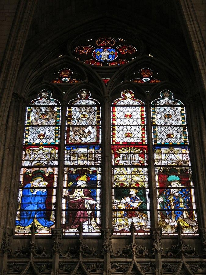 209 1390 ca Vierge à l'Enfant, St Pierre Pape, Pierre de Navarre comte de Mortain, St Denis Baie_209_Evreux