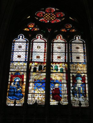 210 1380-1400 Vierge à l'Enfant, Charles VI et St Denis, offerte par la reine Baie_210_Evreux
