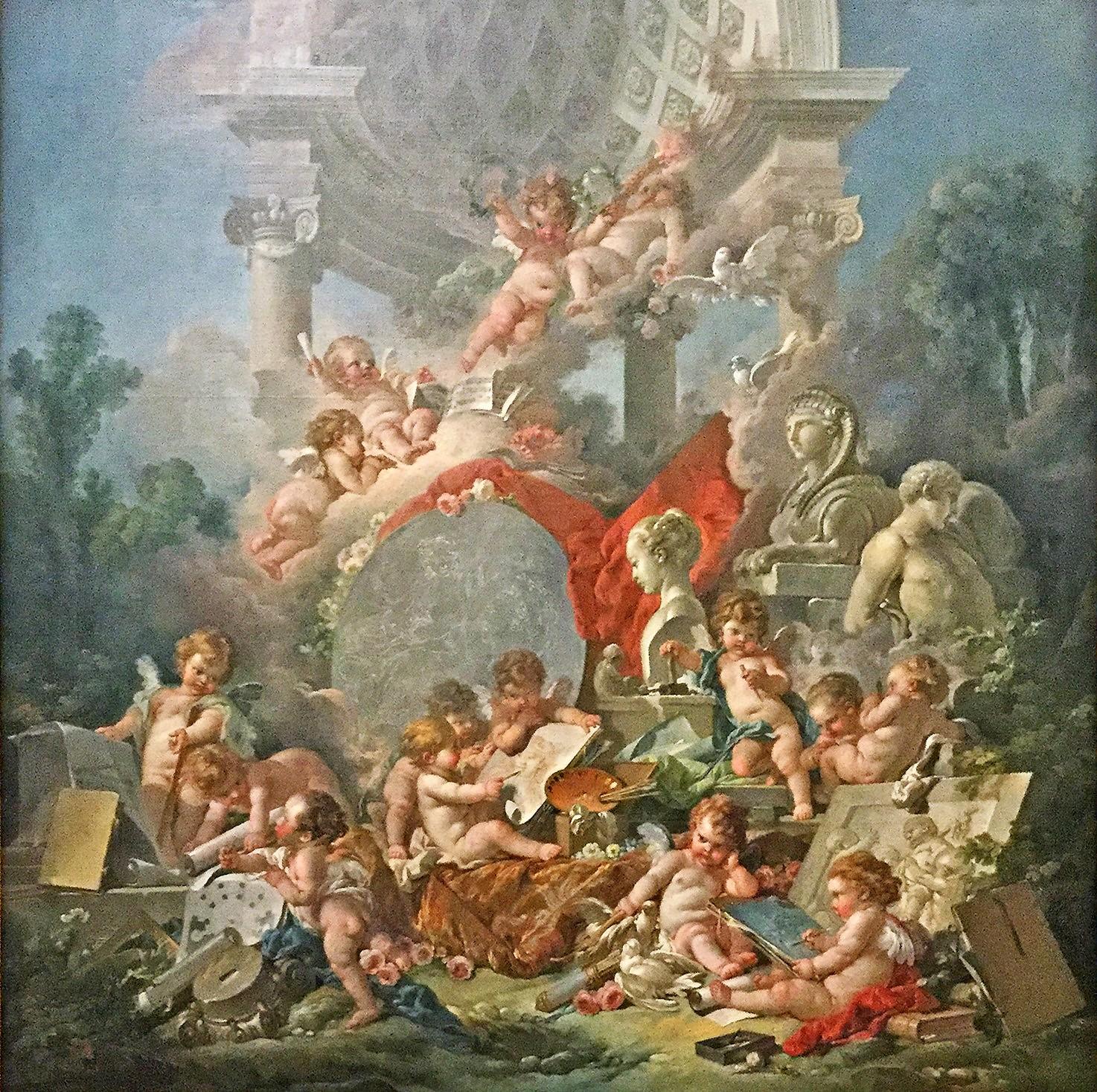 BOUCHER 1761 Les genies des Arts Musee des BA Angers