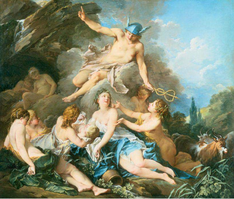 Boucher 1732-34 Mercure confiant Bacchus enfant aux nymphes de Nysa Wallace Collection