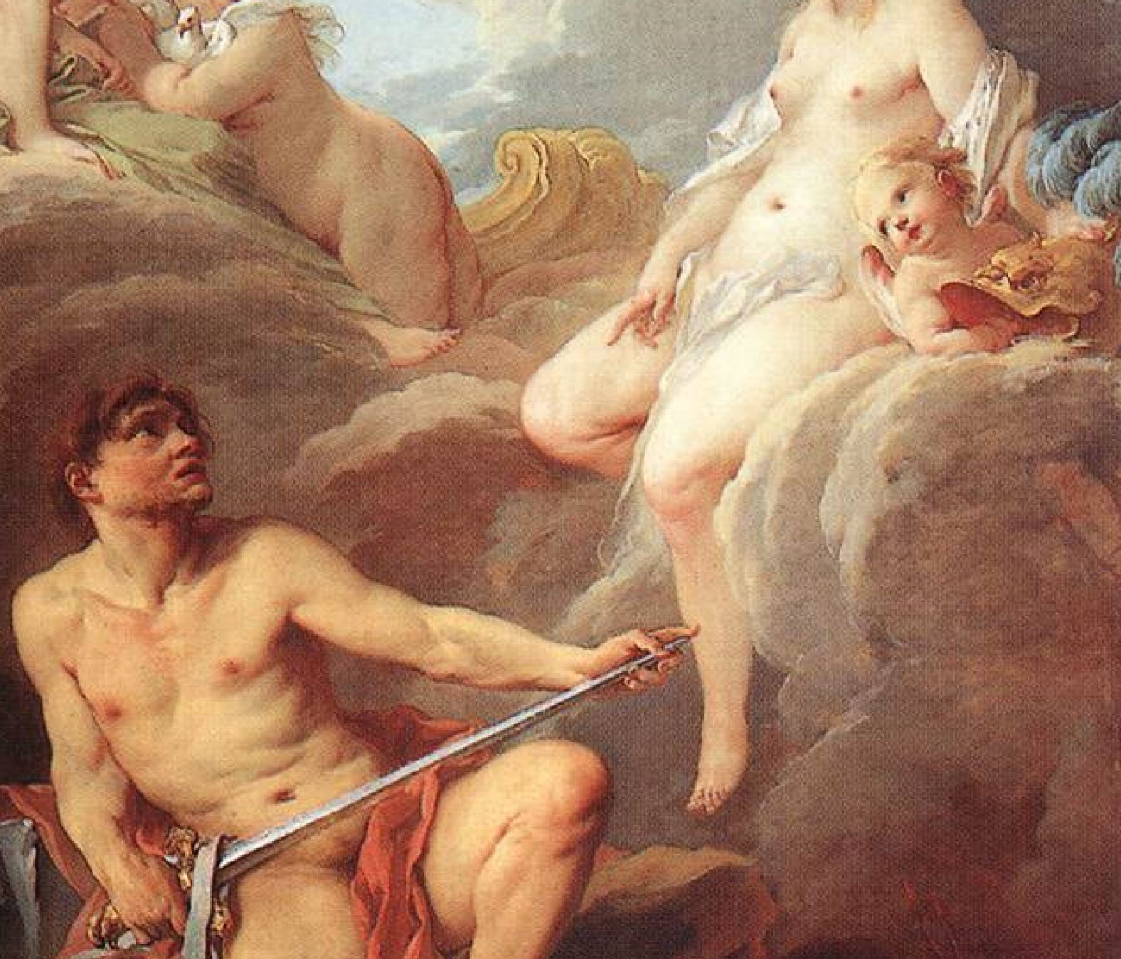 Boucher 1732 Venus_Demanding_Arms_from_Vulcan_for_Aeneas_-_WGA2900 Louvre detail