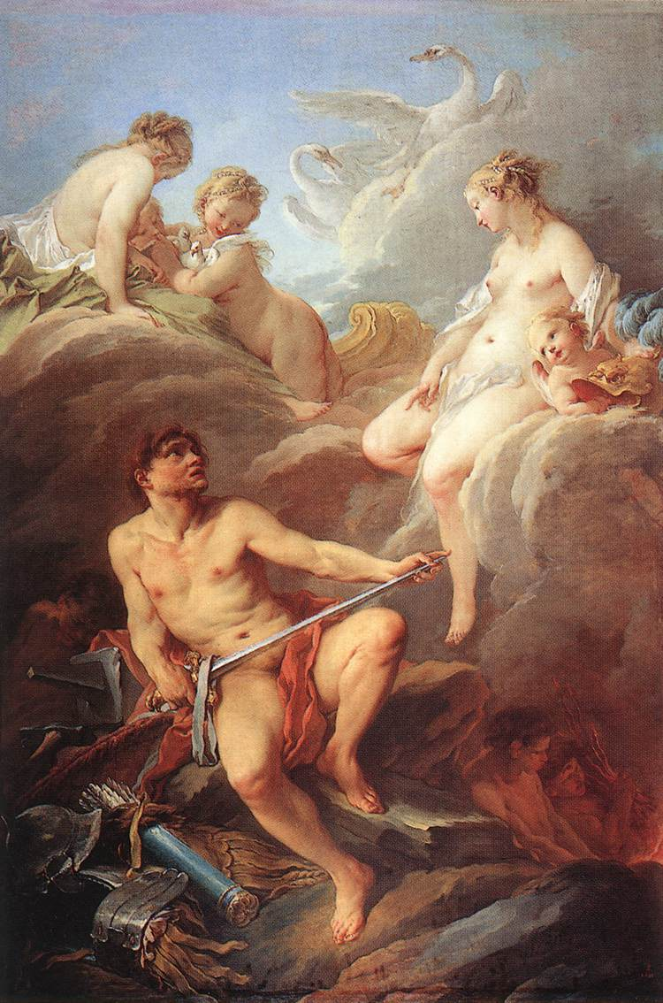 Boucher 1732 Venus_Demanding_Arms_from_Vulcan_for_Aeneas_-_WGA2900 Louvre