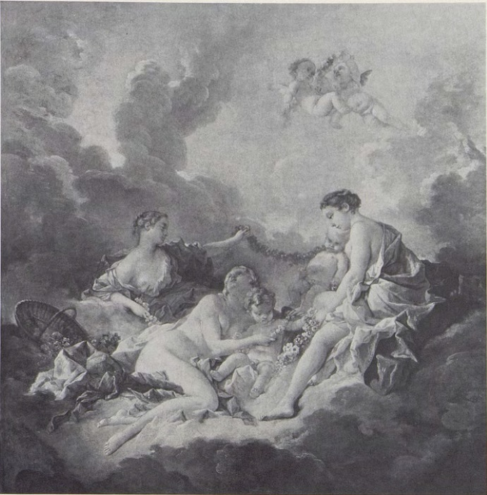 Boucher 1742 L'amour enchaine par les graces coll priv