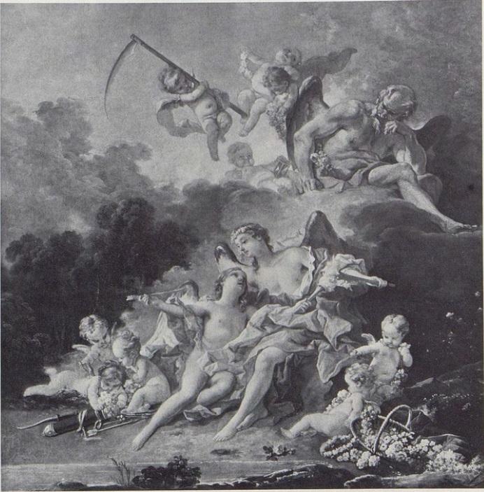Boucher 1742 Le temps donne des armes a l 'amour coll priv