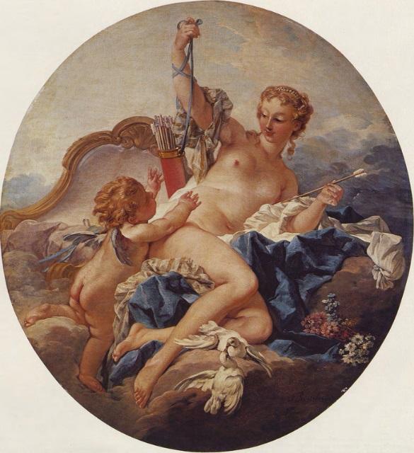 Boucher 1742b Venus desarme son fils coll priv