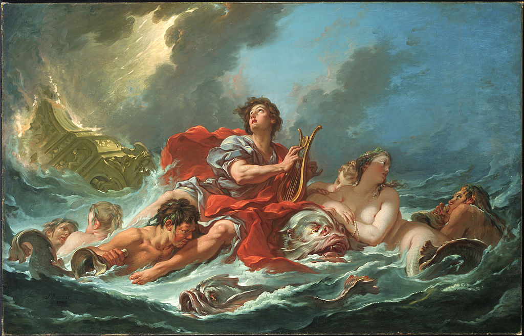 Boucher 1748a Water Arion_on_the_Dolphin musee d'Art de l'universite de Princeton