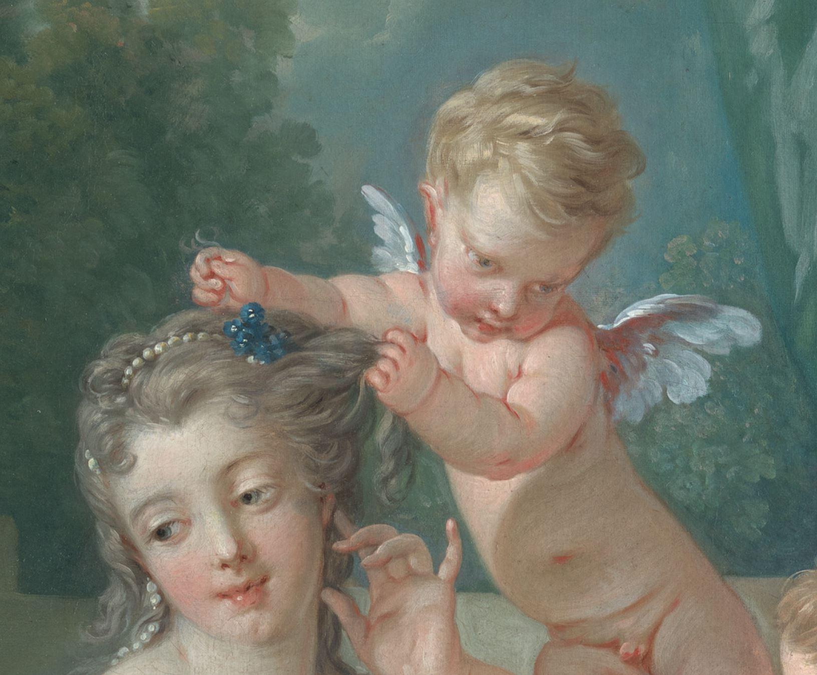 Boucher 1751 La toilette de Venus MET detail 1