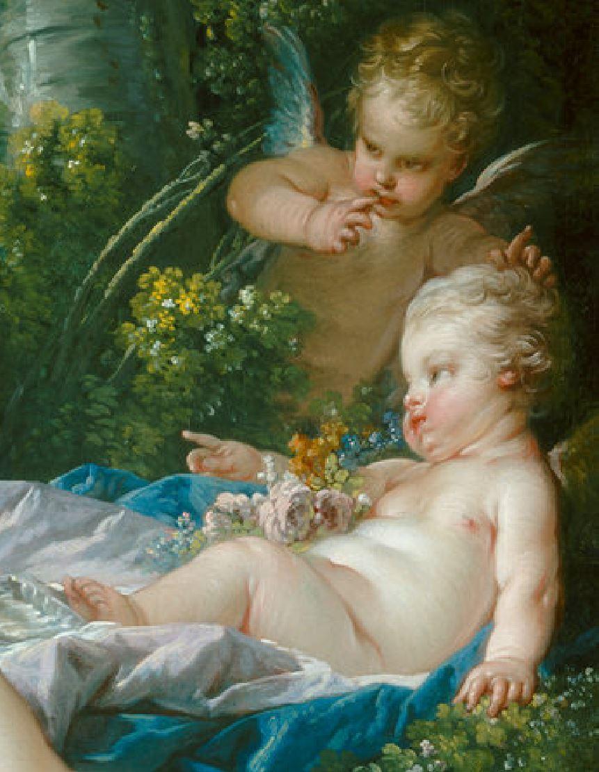 Boucher 1751 Venus consolant l'Amour NGA detail amours