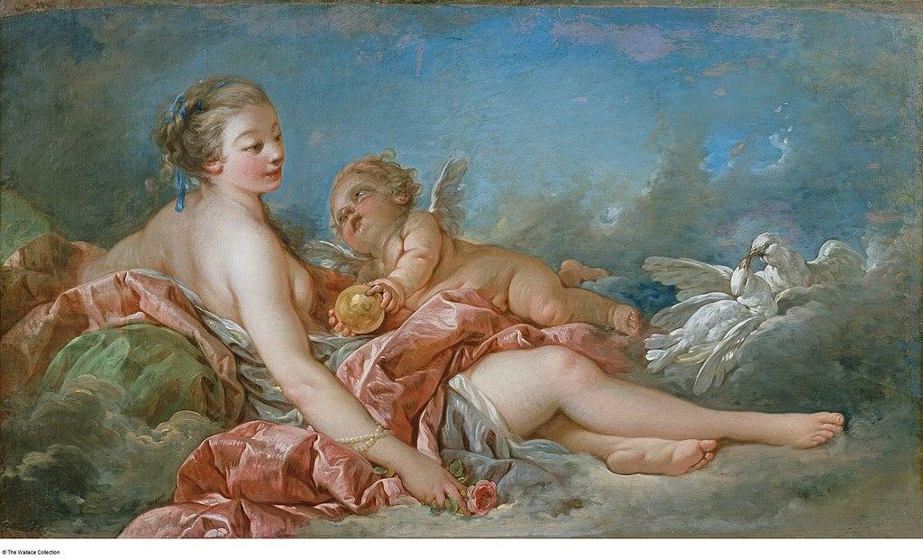 Boucher 1754a Amour offrant une pomme a Venus Wallace Collection