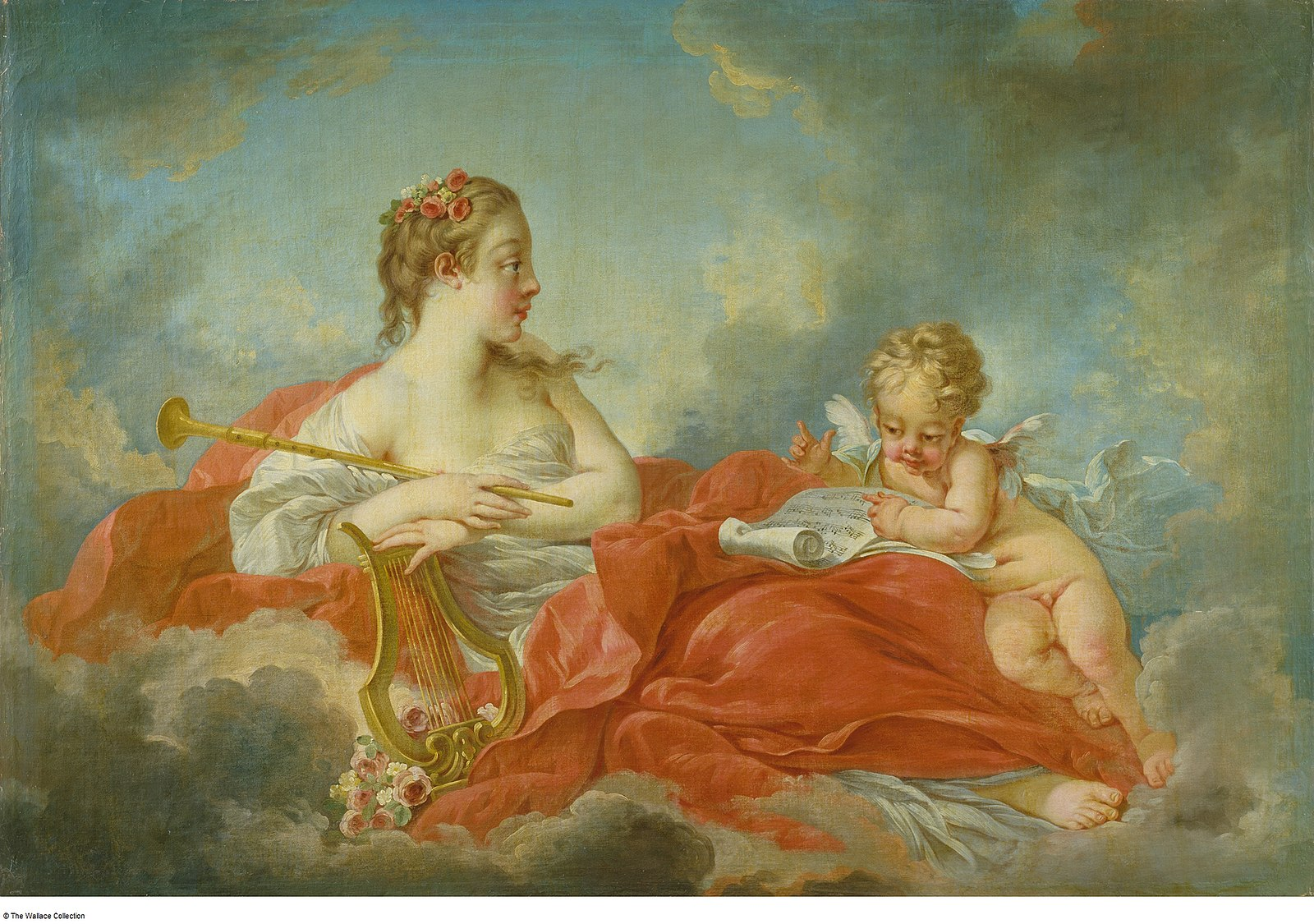Boucher 1756a La muse Polymnie (ou Clio) Wallace Collection