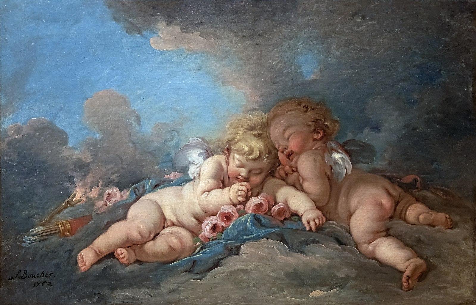Boucher 1762 Les amours endormis coll Bemberg Toulouse
