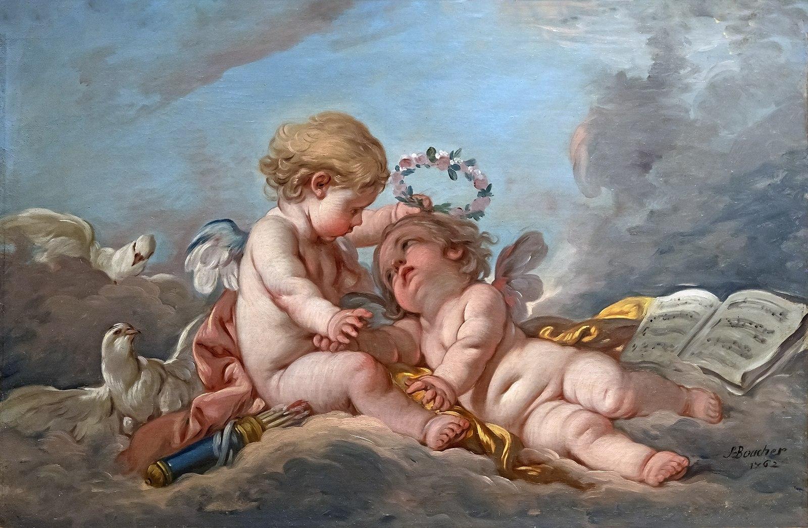 Boucher 1762 Les amours eveilles coll part