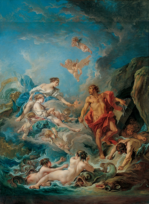 Boucher 1769a Juno Asking Aeolus to Release the Winds Kimbell Art Museum