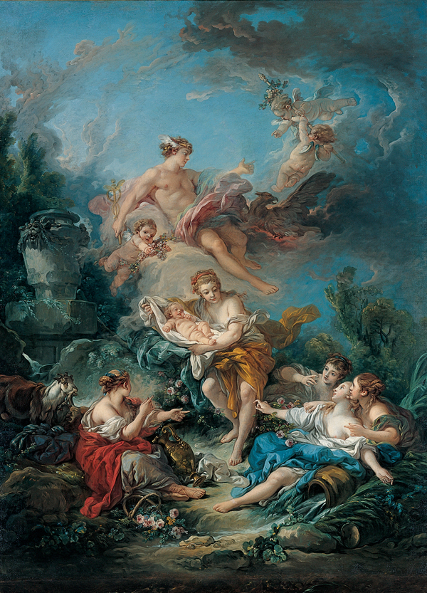 Boucher 1769a Mercury Confiding the Infant Bacchus to the Nymphs of Nysa Kimbell Art Museum