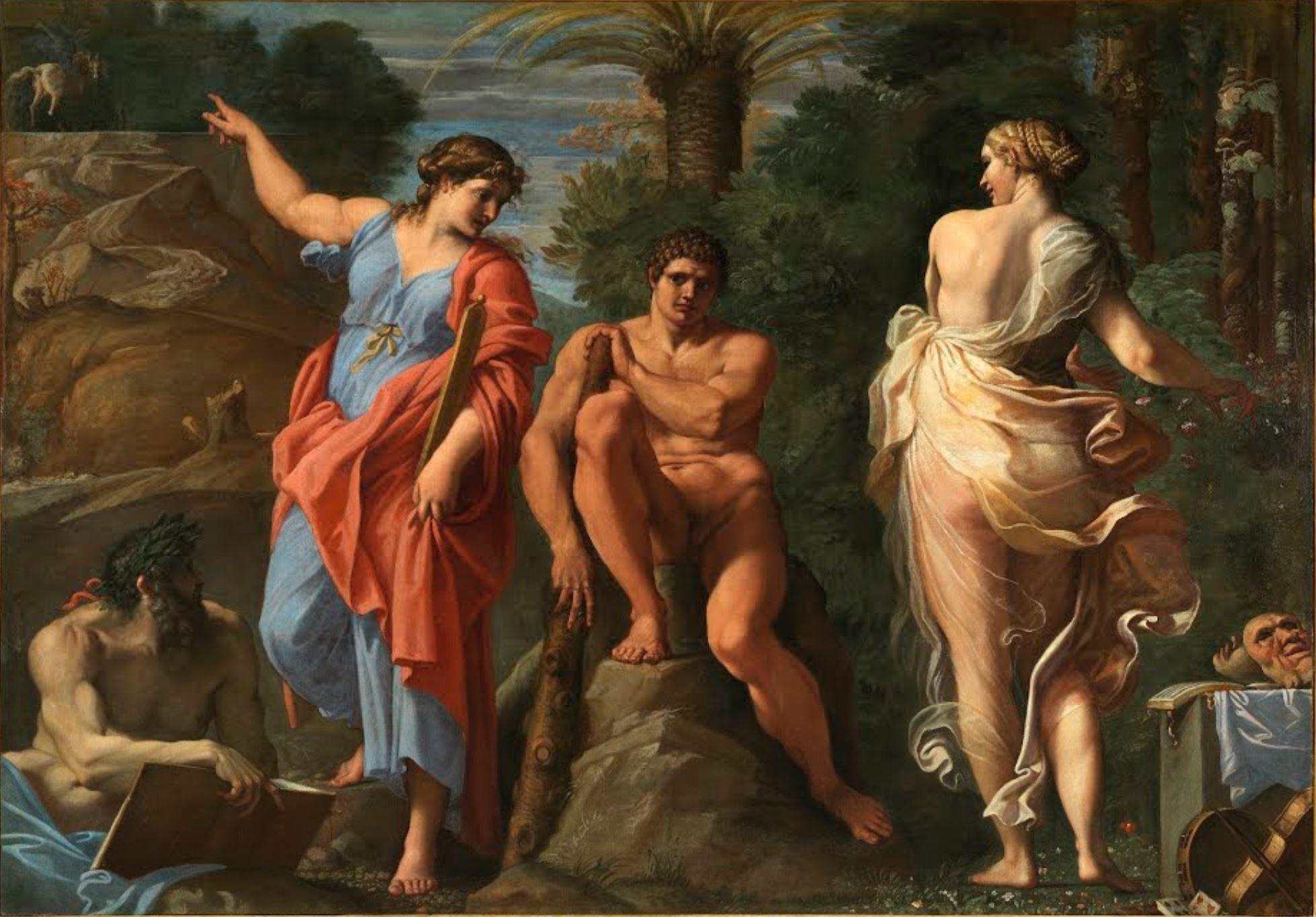Carracci 1596 Le choix d'Hercule Capodimonte Naples