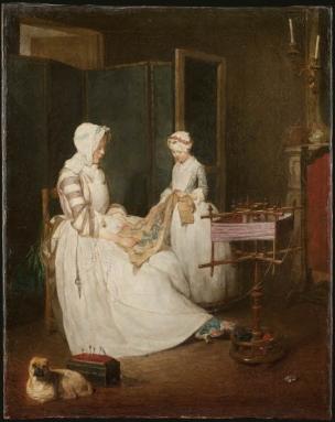 Chardin 1740 La mere laborieuse Louvre