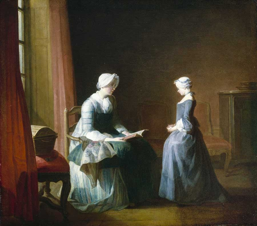 Chardin 1749 (salon) La bonne education Houston Museum of Fine Art Houston