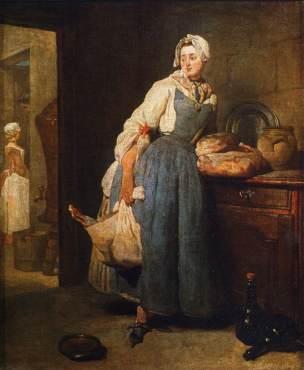 Chardin A La Pourvoyeuse 1739 Louvre