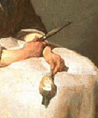 Chardin A la ratisseuse de navets 1738 Washington, National Gallery of Art,detail