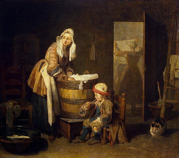 Chardin la blanchisseuse 1735 Ermitage