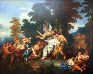 De Troy 1717 Bacchus recueillant Ariane dans l'île de Naxos Gemaldegalerie Berlin