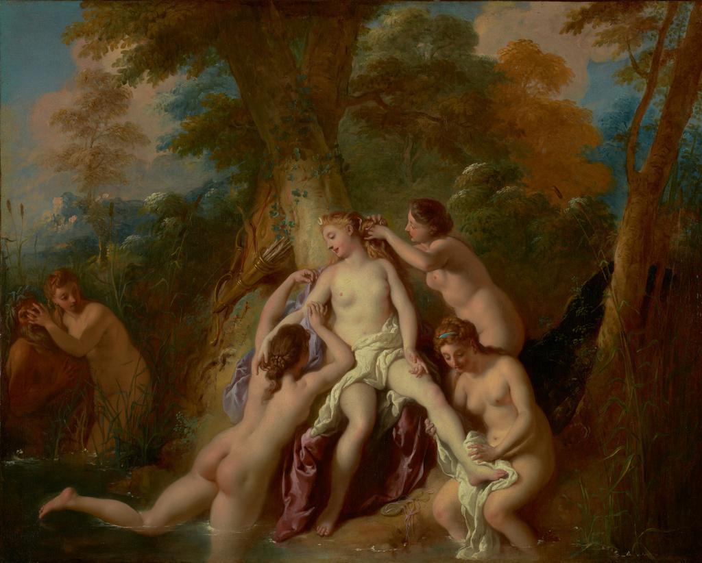 De Troy 1722-24 Diane et ses nymphes Getty Museum Malibu