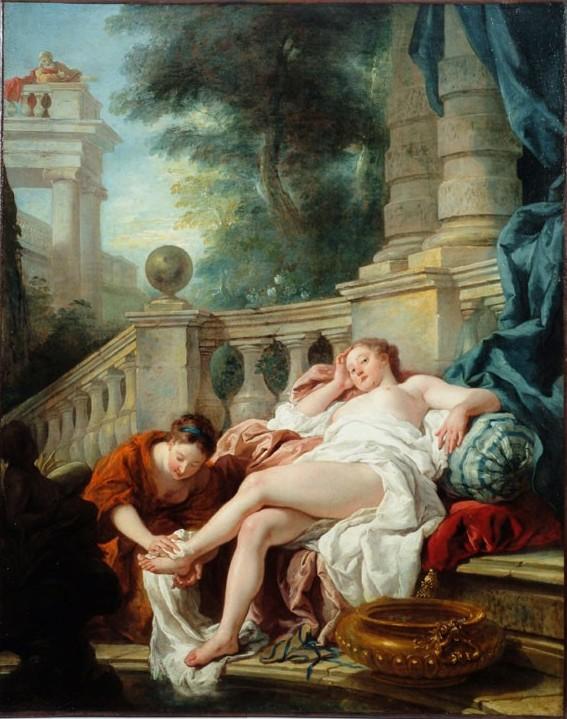 De Troy 1727 Bethsabee au bain Musee des Beaux Arts Angers
