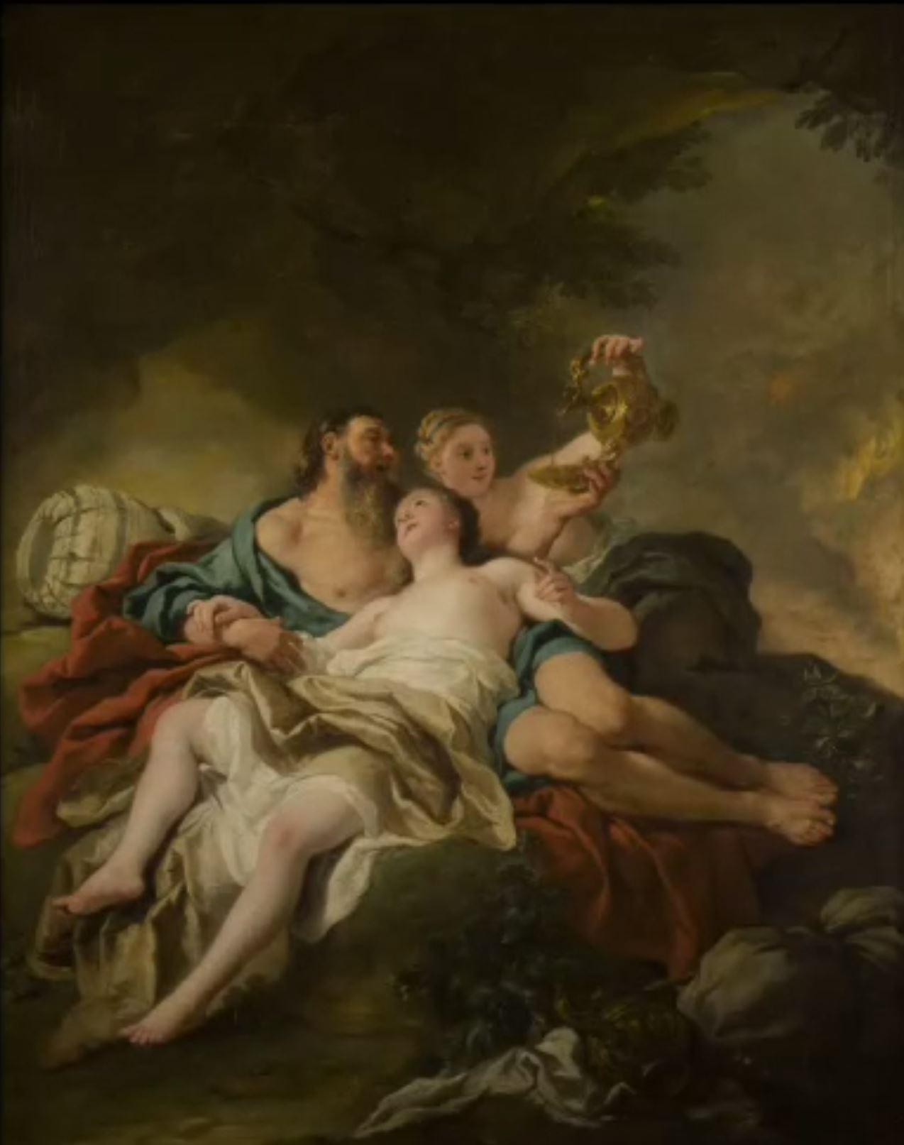 De Troy 1727 Loth et ses filles Musee des Beaux Arts Orleans