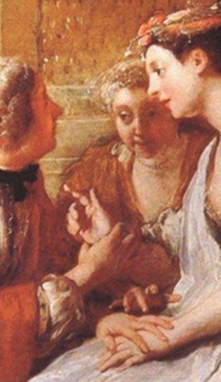 De Troy 1727 le jeu du pied-de-boeuf detail