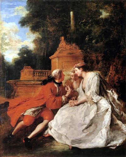 De Troy 1727 le jeu du pied-de-boeuf