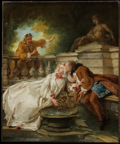 De Troy 1727 le rendez-vous a la fontaine