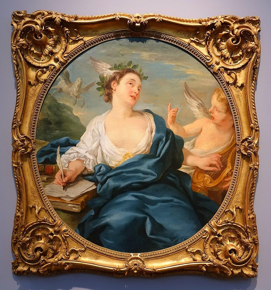 De Troy 1733 Allegorie de la Poesie Portland Museum