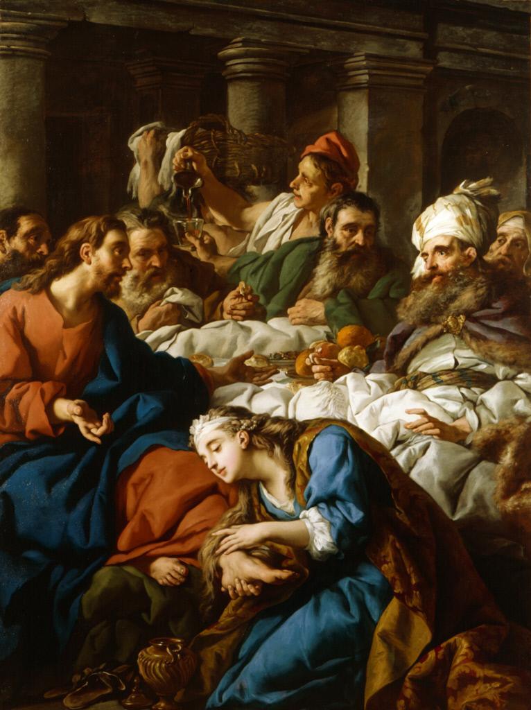 De Troy 1743 Le christ dans la maison de Simon Chrysler Museum of Art