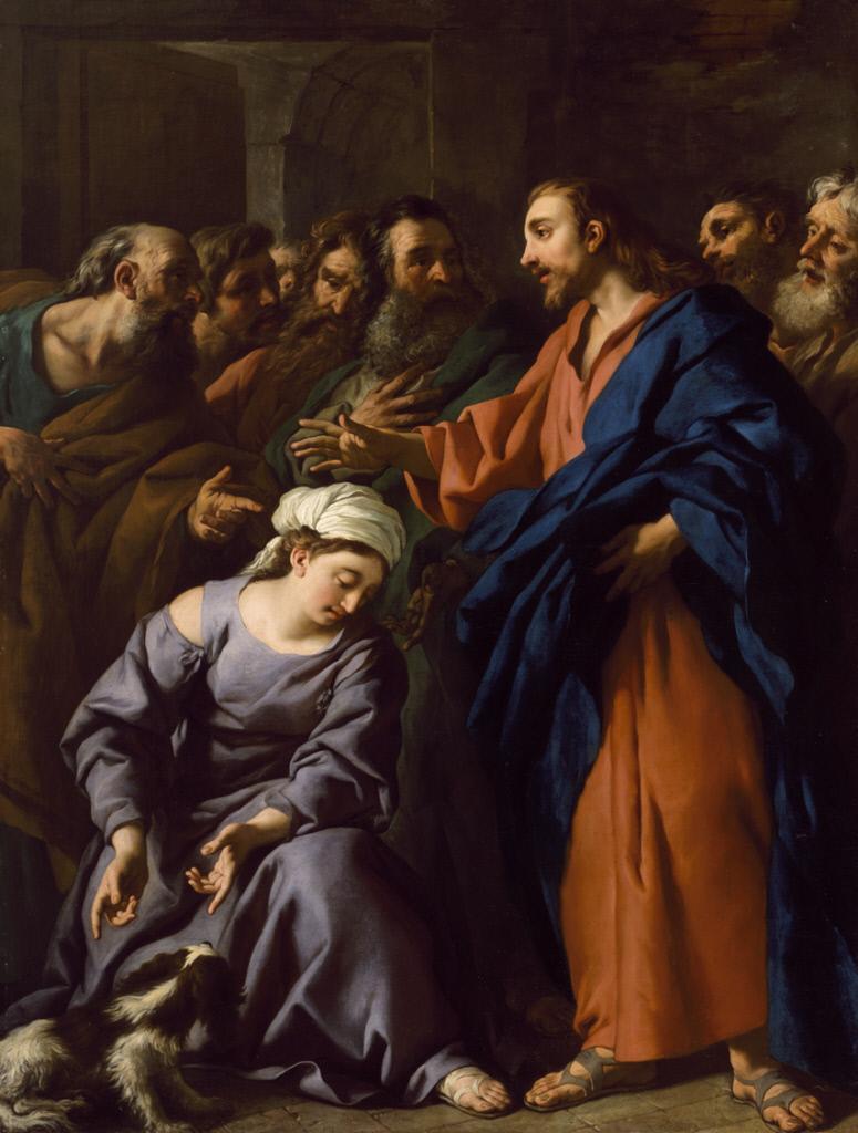 De Troy 1743 Le christ et la Cananeene Chrysler Museum of Art