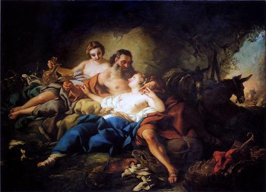 De Troy 1748 Loth et ses filles Museo de Arte de Ponce, Porto Rico