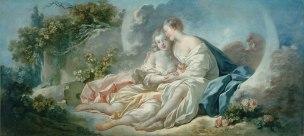 Fragonard 1755- Jupiter_seduisant_Callisto musee_des_beaux-arts,_Angers Photo Jean-Pierre Dalbera