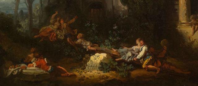 Fragonard 1761 ca Le jeu de la bascule detail